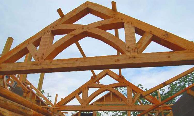 The mansion architecture of Rand Soellner shown here with timber trusses of Soellner's design.  (C)Copyright 2009 Rand Soellner, All Rights Reserved Worldwide.