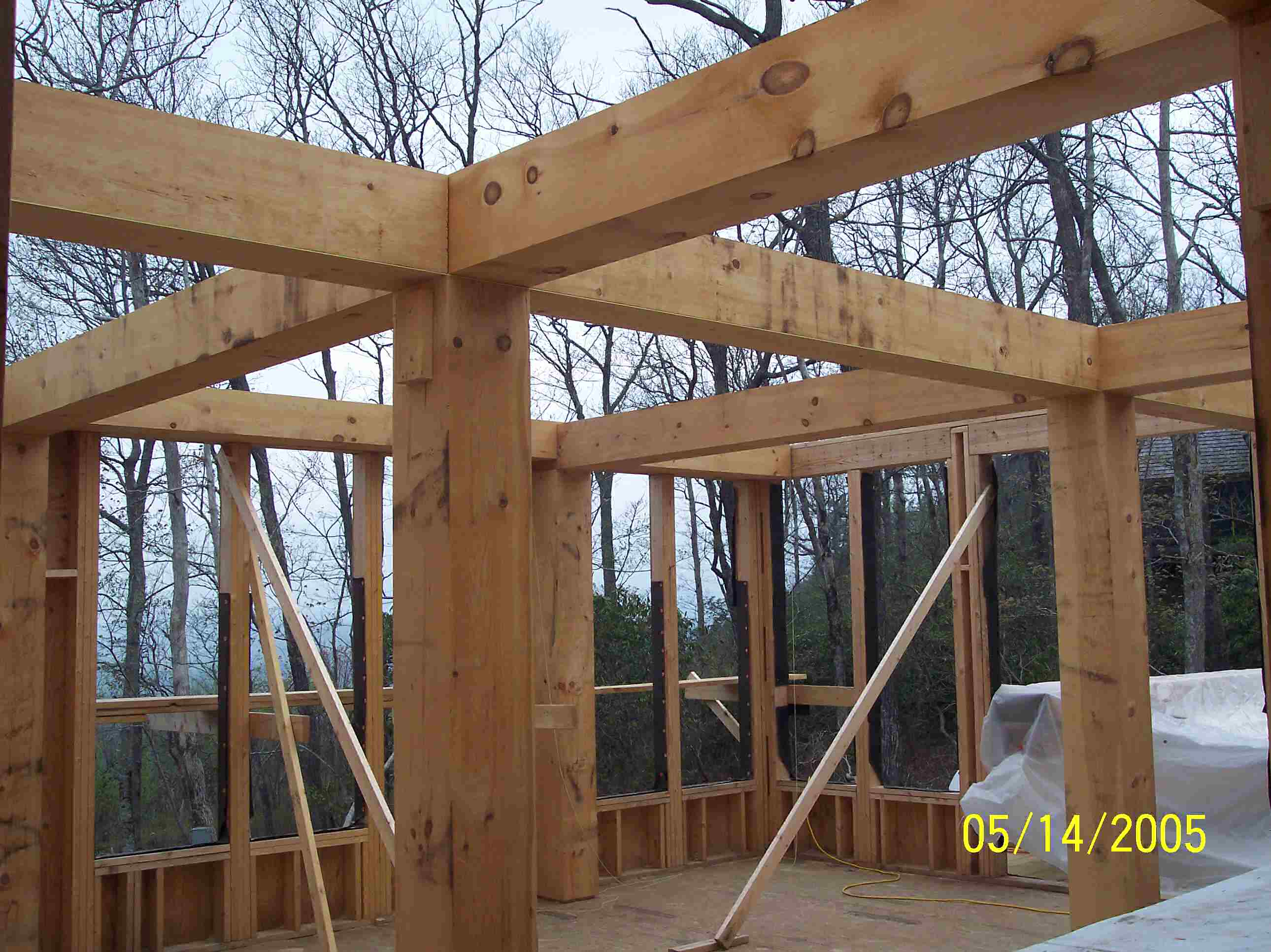 Wood Beam Construction ~ Post and beam craftsman home architects highlands