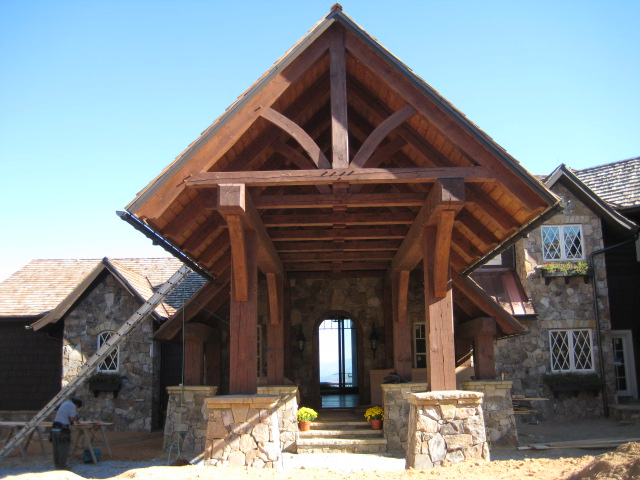 Mountain house 2 highlands nc timber frame design for Timber frame home plans designs