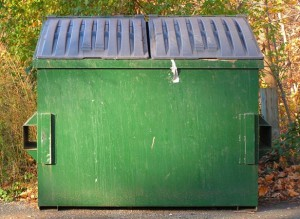 "Use 2 dumpsters on custom home design projects.  Use one as the ""green"" bin for recyclables."