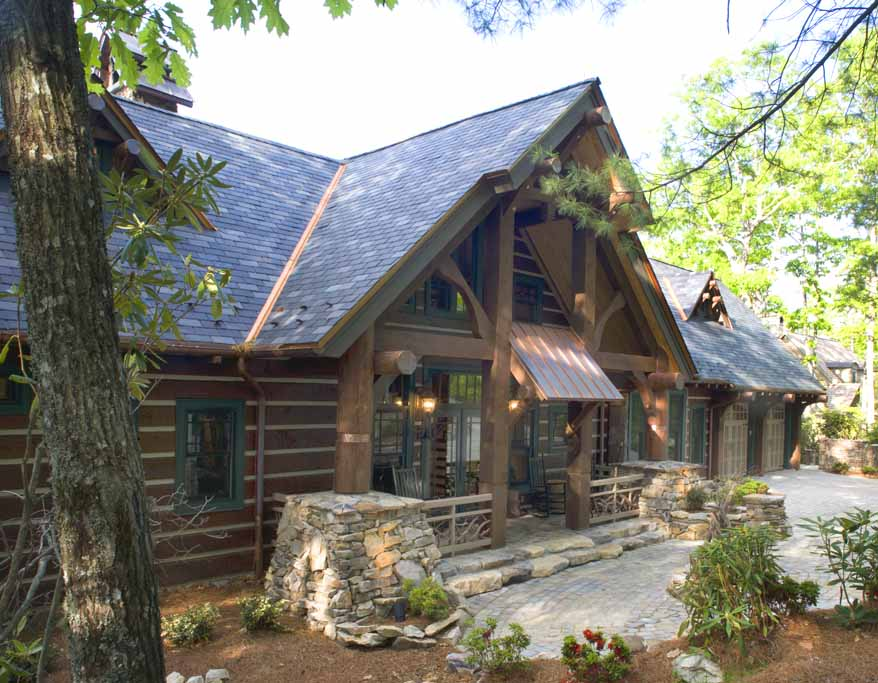 Cashiers Log Home | Log Homes Designer 4 | Mountain Home Architects ...