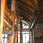 Rand Soellner designs muscular timber frame and other custom houses for clients desiring something special.  Providence Mountain Retreat by Rand Soellner, (C)Copyright 2010 Rand Soellner, All Rights Reserved Worldwide.