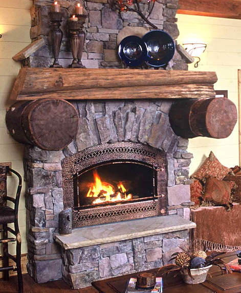 11 cashiers cabin log cabin architect mountain home for Cabin fireplace pictures
