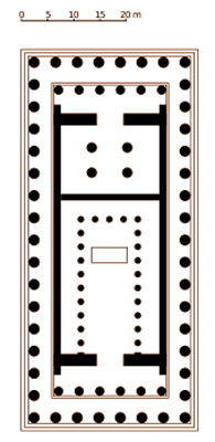 Floor plan of the Parthenon, as designed by architects Iktinos & Kallikrates, 447BC.  Architects have been around for a long time.  Image courtesy of Wikipedia.