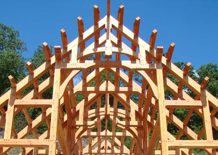 Timber frame home designed by Rand Soellner, (C) Copyright 2005-2010 Rand Soellner, All Rights Reserved Worldwide.  Timber frame photo, fabrication and assembly by Jeff Johnson Timber Frame, Inc.