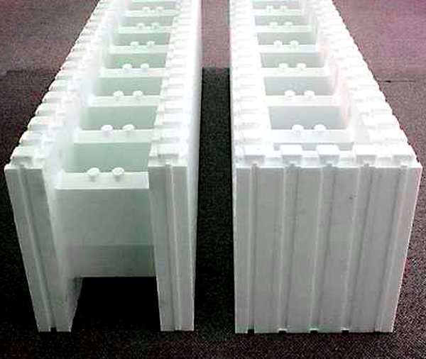 Icf insulated concrete forms for houses mountain home Cement foam blocks
