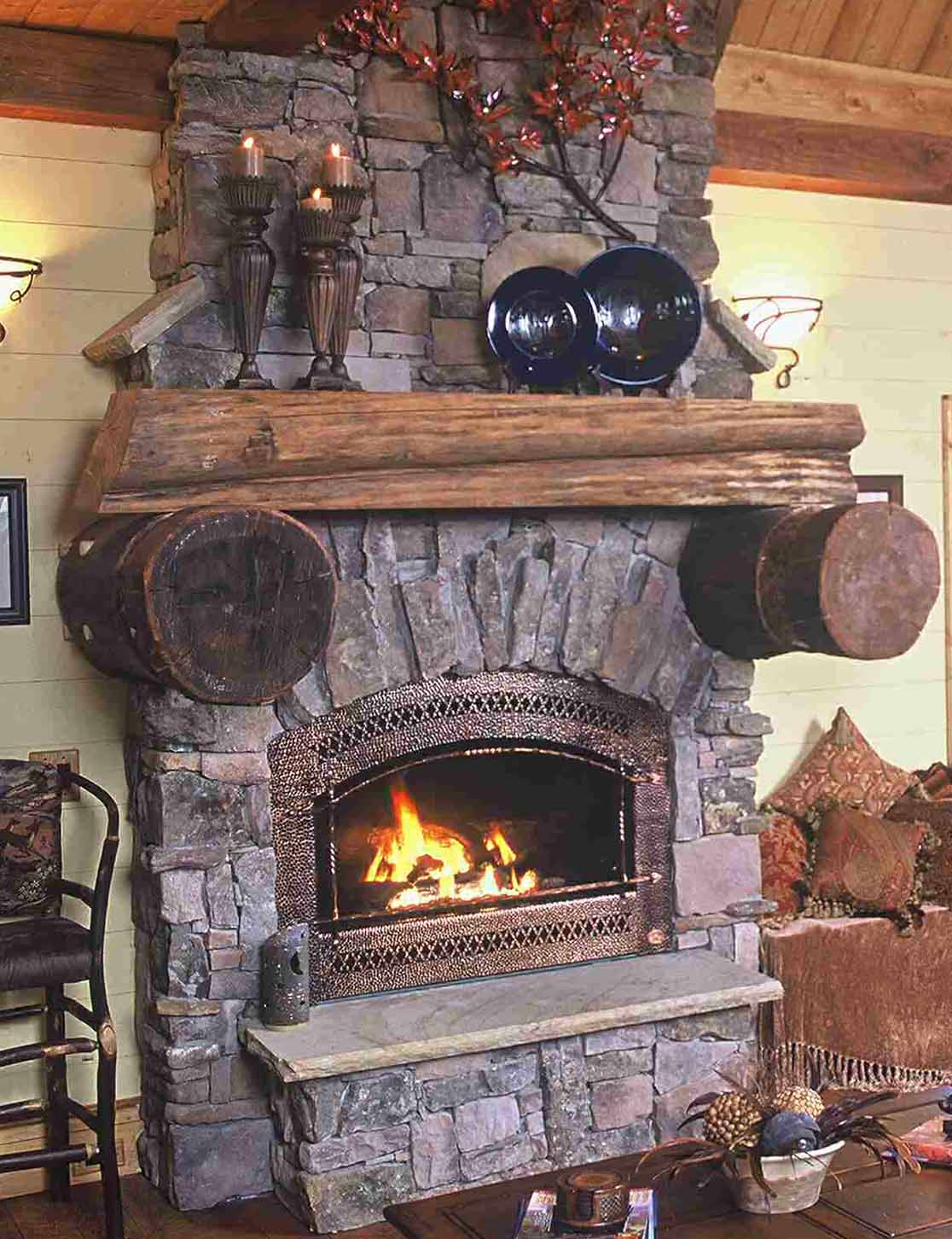 fireplaces and hearth rooms - Fireplaces And Hearth Rooms Mountain Home Architects, Timber