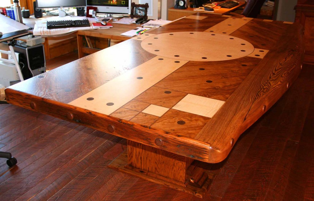 (C)Copyright 2007-9 Rand Soellner, All Rights Reserved Worldwide.  Actual finished Appalachian Conference Table designed by Rand Soellner Architect.