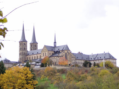A cathedral in Bamberg, Germany, in Bavaria, not too far from the town of Rand Soellner's great grandfather.