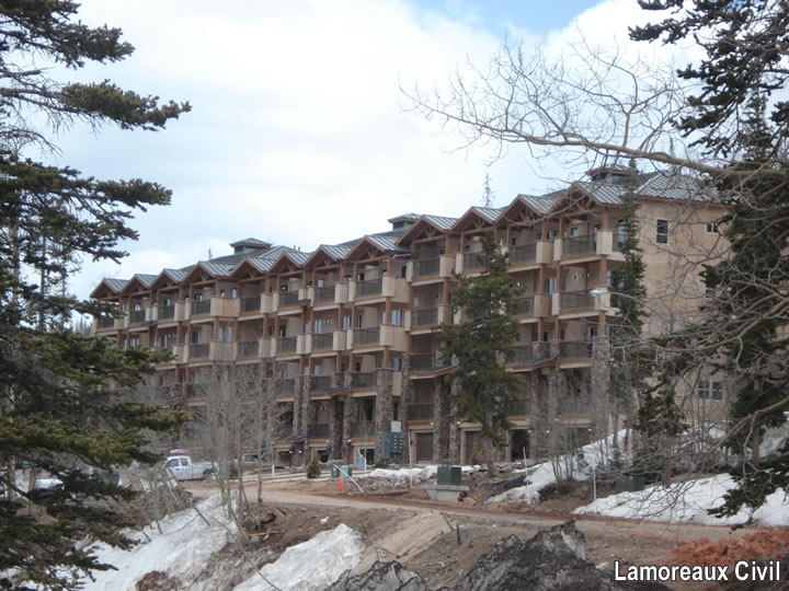 Civil Work around mountain condominium (building by others)