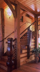 Brevard architects create timber frame and post and beam designs like this, created by Rand Soellner Architect.  (C)Copyright 2004-2010 Rand Soellner, All Rights Reserved Worldwide.