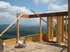 timber frame design, mountain house