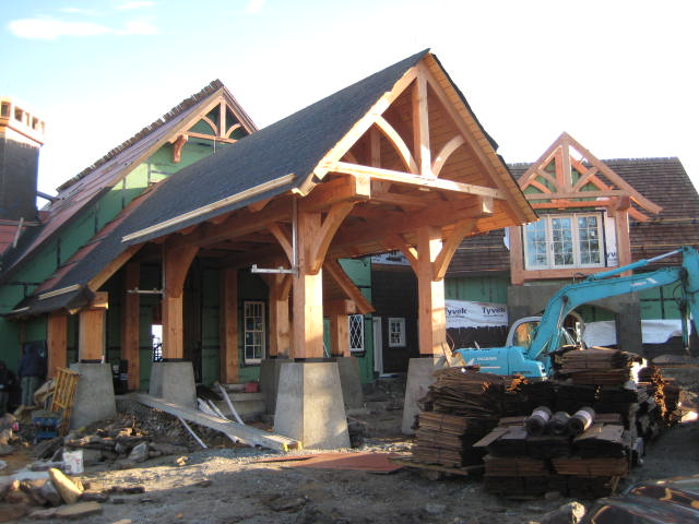 mountain house, timber frame design