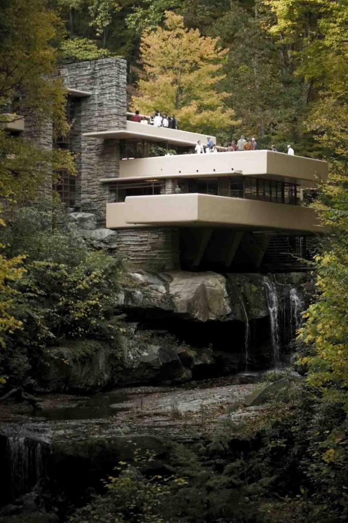 United State Home Architects - Frank Lloyd Wright's beautiful masterpiece, Falling Water.