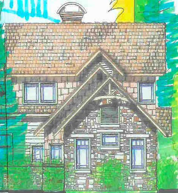 A family village design by Rand Soellner Architect featuring a cottage portion of one project.  (C)Copyright 2004-2010 Rand Soellner, All Rights Reserved Worldwide.