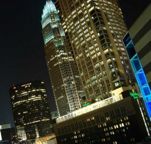 Charlotte's Uptown is as slick and high-tech as New York.
