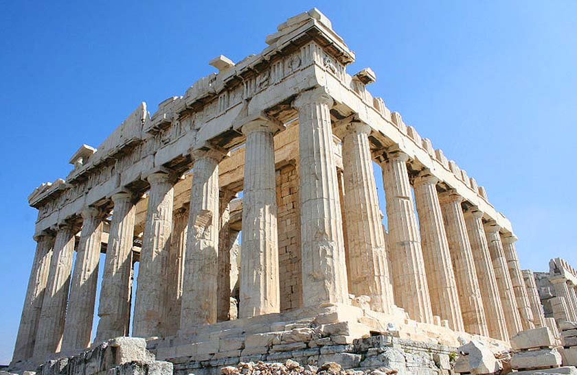 Ancient Greek architects Iktinos and Kallikrates collaborated with sculptor Phidias from 447BC through 431 BC to design and build one of the most famouse architectural masterpieces: The Parthenon (Athena's Temple) at the Acropolis in Greece.