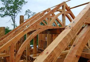Rand Soellner home designers created these timber frame trusses for a project just completing construction now.  (C)Copyright 2007-2010 Rand Soellner, All Rights Reserved Worldwide.