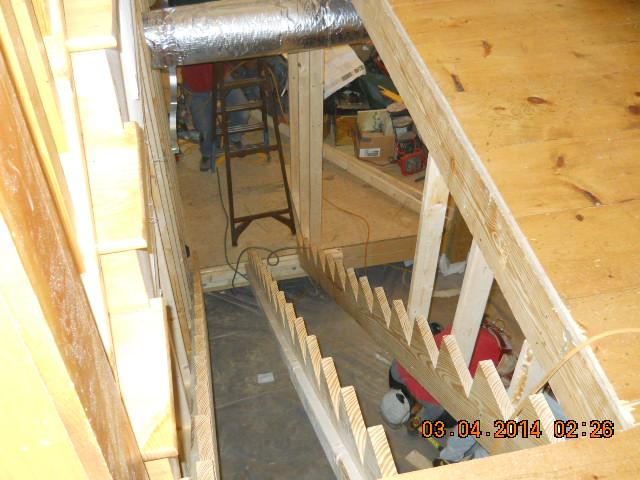 stairway addition renovation