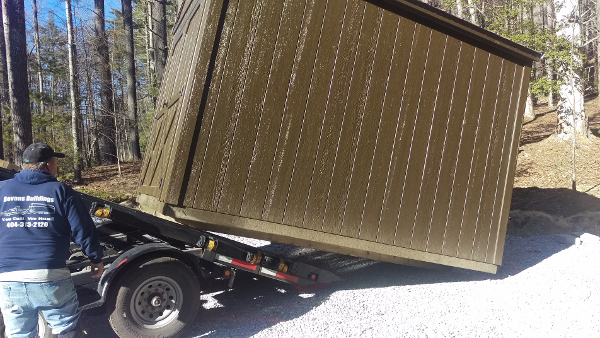 installing a prefab shed