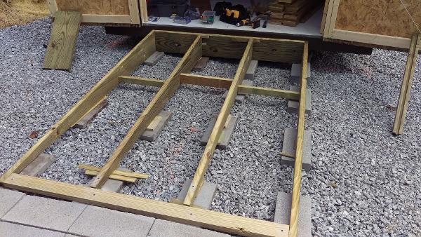 installing prefab shed