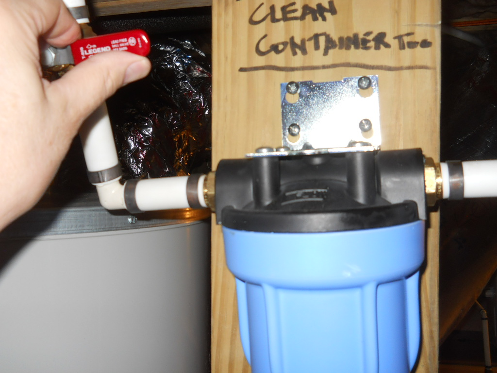 water filter replace
