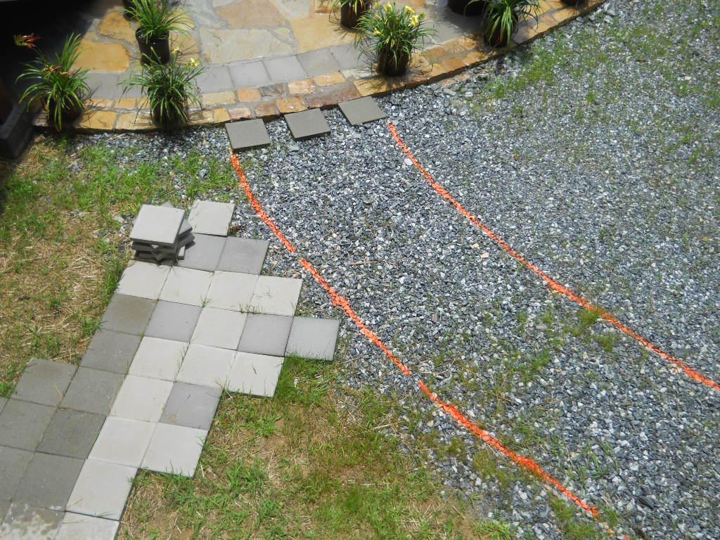 Architect draws on ground