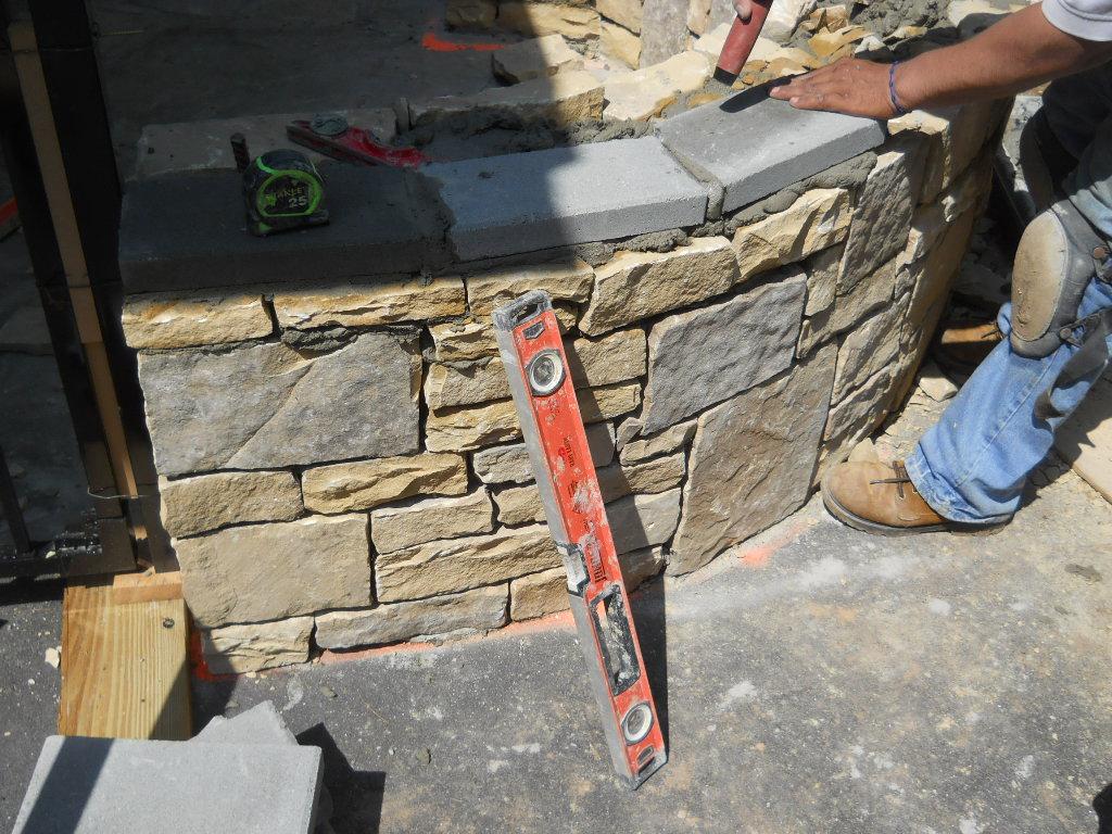 stone utility wall